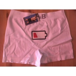 Boxer espuma blanco modelo Low battery Talla M