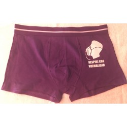 Boxer punto color morado modelo Breathless , Talla L