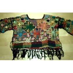 Camiseta trapillo multicolor Talla M
