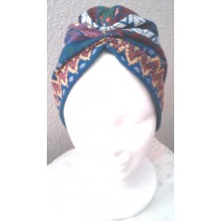 Turbante tela guatemalteca multicolor